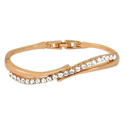 Crystal Wave 18K Rose Gold Finished High Quality Bangle Bracelet  Be the first to review this item