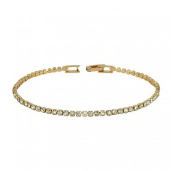 Tennis Inline Rose Gold Plated Rhinestones Bracelet