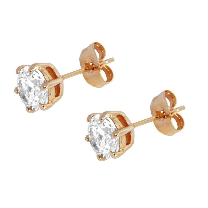 small in rose earrings stud round online thumbnail gold button original dotoly products plus img