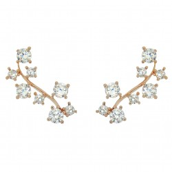 HOT TRENDY - Ear Cuff Climbers Crawlers Sweep Rose Gold Plated Twig Cubic Zirconia Earrings Good Quality