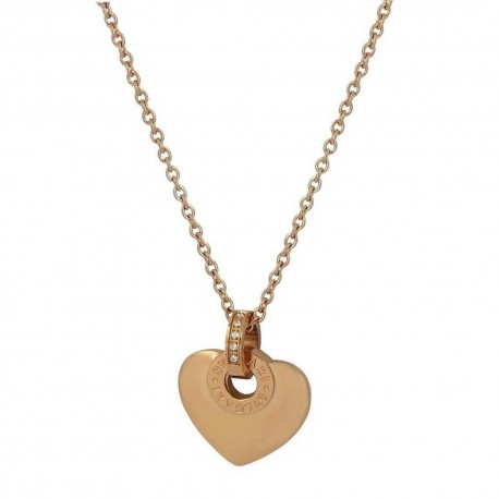 Luxury 18K Rose Gold Finished Stainless Steel Heart Pendant With Chain  Be the first to review this item