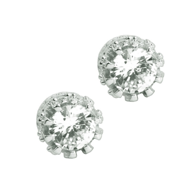 858935ad0 ... Elegant 925 Sterling Silver Austrian Crystal Cubic Zirconia Small Round  Stud Earrings Good Quality ...