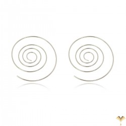 Novelty Trendy Fashion Simple Minimal Fish Silver Colour Thin Ear Line Bar Pull Through Curved Long Earrings