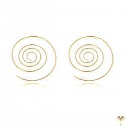 Novelty Trendy Fashion Simple Minimal Geometric Spiral Silver Colour Thin Curved Bar Pull Through Earrings
